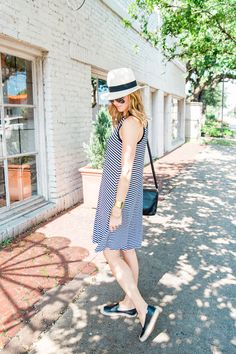 Black + White Stripe Dress | Styled Once - A PIECE of TOAST // Lifestyle + Fashion Blog // Texas + San Fran