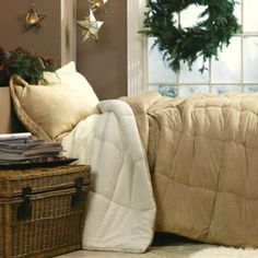 Full/queen Size Green Micro Mink Comforter With Bonus Shams By Linensource in November 2012 from Linen Source on shop.CatalogSpree.com, my personal digital mall.