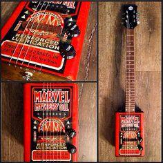 Marvel Mystery Oil Vintage Bohemian Guitar #oilcan #electric #guitar #bohemian www.bohemianguitars.com