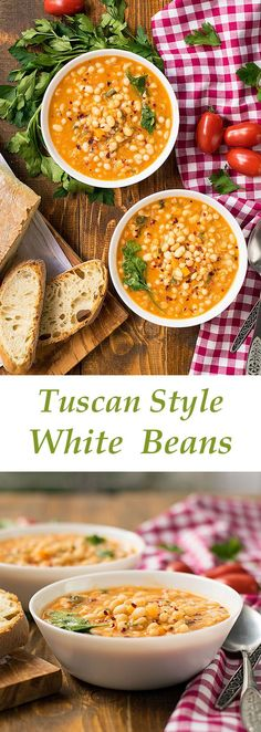 tuscan style white beans | thehungrybites.com