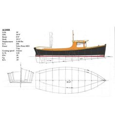 Alder 18' Flat-bottomed Island Support Boat ~ Small Boat Designs by Tad Roberts