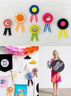 DIY award ribbons