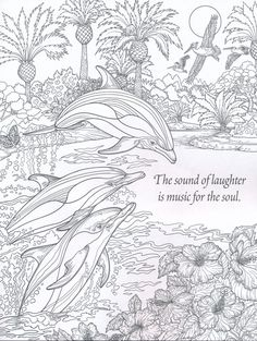 The sound of laughter ~ Nature Coloring Book for Adults