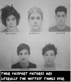HONESTLY. People are supposed to look bad in passport photos. I don't know one person who looks good in theirs!!! UGH THESE BOYS