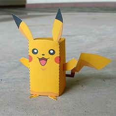 DIY Printable -Paper Box Pocket Monster Pikachu