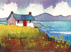 ACEO Original watercolour Connemara by Pamelajonesartstudio, £5.95