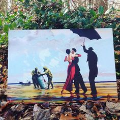 """@vanessa_long_dance_company chose thematic piece by Banksy called """"Dancing Butler on Toxic Beach Crude Oil""""."""