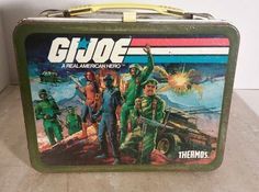 G.I JOE A Real American Hero Lunchbox Vintage 1982 No Thermos