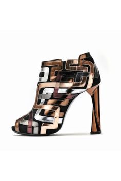 WOW!!! I love Metallics! fall 2012, Pierre Hardy, shoes, boots + booties, high heels, brown, gray, metallic