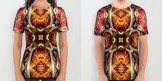 View the store at http://society6.com/kundalini/all-over-print-shirts #kundalini #kundaliniarts #fashion #tshirts #menswear #womenswear #print #design #textiles #fabric #geometry #geometric #nature