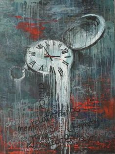 """Painting, """"Choice of values"""" Choice of values Painting, 200 H x 180 W x 4 cm Acrylic on canvas From """"Time"""" artworks series by Tanya Vasilenko painting Value Painting, Clock Painting, Clock Art, Time Painting, Salvador Dali Kunst, Photomontage, Illustrations, Illustration Art, Conceptual Painting"""