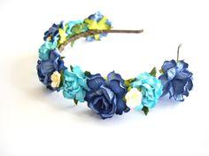 Tiffany Blue baby headband. DIY