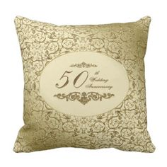 fiftieth Wedding ceremony Anniversary Throw Pillow.  See even more by visiting the image