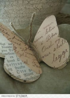 DIY: BUTTERFLY from book pages & twine!