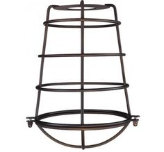 Westinghouse 7 in. Matte Black Globe Cage Shade with 2-1/4