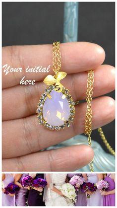 Purple Bridesmaid jewelry purple lavender pink by thefabbridal3, $29.99