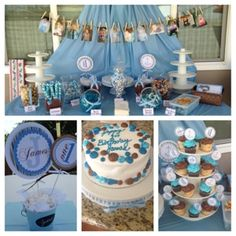 Bella Mia Soirees: Blue & Brown Baptism & 1st Birthday Party