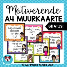 gratis afrikaanse muurkaarte my panda Preschool Classroom, Preschool Learning, Classroom Themes, Teaching, Education Quotes For Teachers, Teacher Resources, Kids Education, Afrikaans Language, Homemade Bookmarks