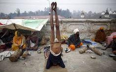 Image result for sadhu-headstands
