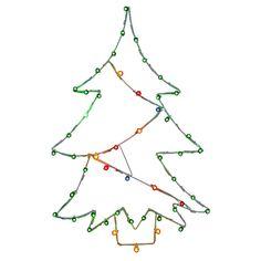 Vickerman 48 in. Christmas Tree Silhouette Light Display - V146037