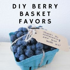 Thirty Day Dash | DIY Wedding and Day-of Wedding Services | DIY Berry Basket Favors
