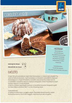 Csokoládés kuglóf recept az ALDI-tól Izu, Beef, Recipes, Food, Meat, Essen, Meals, Ripped Recipes, Eten