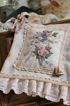 Купить Шепот летнего сада - саше, саше с вышивкой, вышивка, ручная вышивка, ароматный подарок