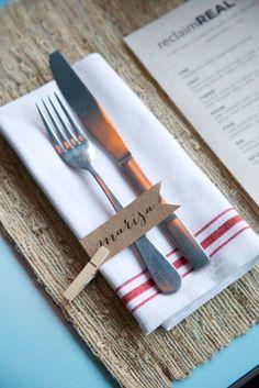 Wedding Table Idea - pennetjie met naam