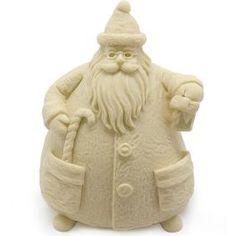 Molde Santa Claus 3D, para hacer figuras decorativas. Molde de silicona para hacer detalles y manualidades de navidad. Apto para materiales de escayola, resina, cera, parafina, jabón, etc.