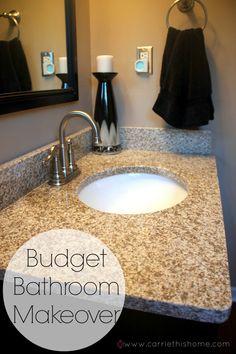 Budget Bathroom Makeover--tips on making a BIG impact on a small budget.