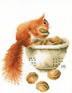 Lanarte Marjolein Bastin Collection Counted Cross Stitch Kit - Squirrel