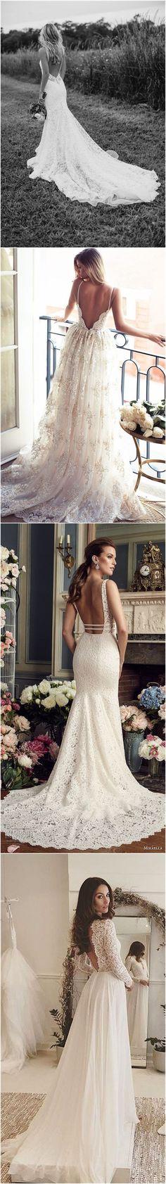 34 Stunning Open Back Wedding Dresses That Wow Open Back Wedding Dress, Backless Wedding, Perfect Wedding, Dream Wedding, Wedding Styles, Wedding Photos, Wedding Goals, Mode Style, Dream Dress