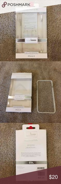 IPhone 6 Plus case, case*mate in clear iPhone 6 Plus case, by case*mate in clear.  New and never used. Packaging opened for photo shoot only.  Please ask any questions you may have before purchasing. 🚫trades, 🚫lowball offers please. Accessories Phone Cases
