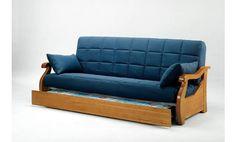 Sofa cama con cama nido. Sofa cama clic clac. Sofa cama tapizado en tela de tres plazas.