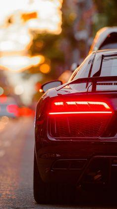 Audi R8, taillight, street, 720x1280 wallpaper