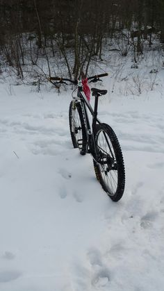 Winter time mountain biking is awesome.  Giant XTC 29er