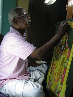 Manivelu A. | Forms of Devotion Shiva, Krishna, Tamil Astrology, Om Art, Detailed Paintings, Tanjore Painting, Learn Art, Hindu Art, Artist Life