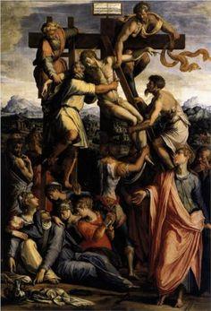 Deposition from the Cross, 1540 -Giorgio Vasari - by style - Mannerism (Late Renaissance) Giorgio Vasari, Renaissance Artists, Italian Renaissance, La Pieta, Baroque Painting, Italian Painters, European Paintings, Art Database, Italian Art