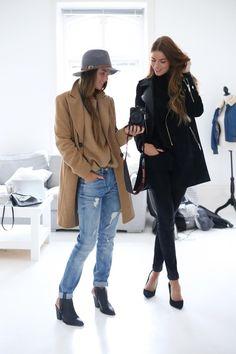 hat + jeans