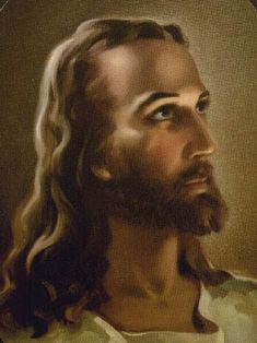Portrait of Jesus. My great-aunt Norene always had this in her home, and now it is in mine. My favorite interpretation.