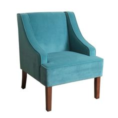 Library Chair  Turquoise Velvet Swoop Accent Chair | Kirklands