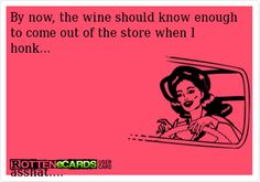 Funny wine.