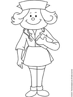 School Nurse Coloring Pages