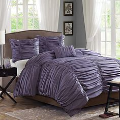 Madison Park Delancey Plum 4-Piece King Comforter Set