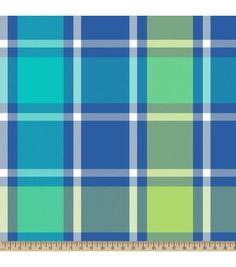 "Blizzard Fleece Fabric 59""-Bruno Plaid Green"