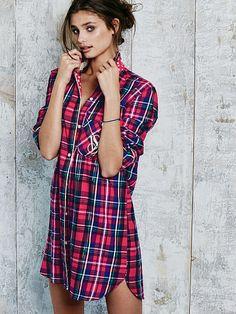 b44d352240 Dreamer Flannel Sleepshirt - The Dreamer Flannel Collection - Victoria s  Secret Plaid Pajamas