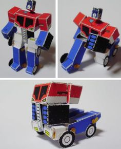 Optimus Prime Articulated Robot Paper Model - by Paper Transformers  ==          A clever paper model from Paper Transformers website: the Optimus Prime Articulated Paper Robot, that turns into a truck.