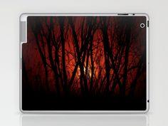 La tarde en llamas III Laptop & iPad Skin by unaciertamirada - $25.00