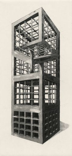 The Geometry of Living - Towers by Martin Reznik The Geometry of Living is a series of etchings, which contemplate functionality of the modern estate architecture.