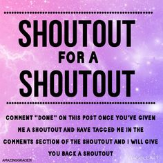 tag me in the COMMENTS SECTION of the shoutout ≫[amazinggrace31]≪